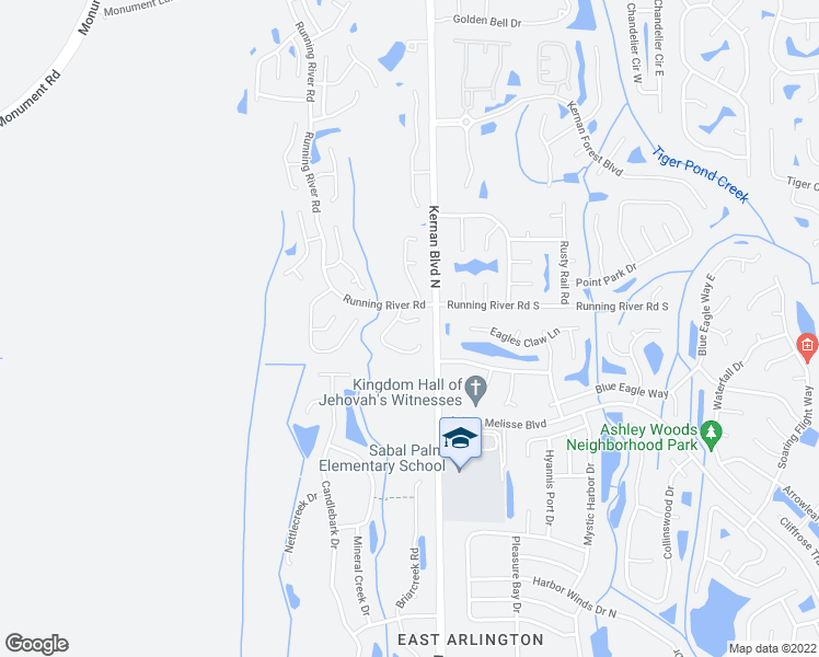 map of restaurants, bars, coffee shops, grocery stores, and more near 12310 Dunwoody Drive in Jacksonville