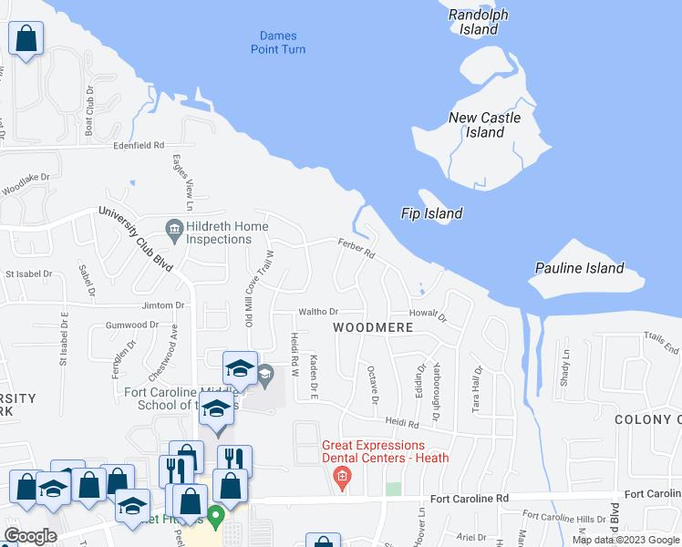 Map Jacksonville Florida.4155 Markin Drive West Jacksonville Fl Walk Score