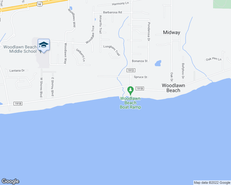 map of restaurants, bars, coffee shops, grocery stores, and more near 5259 Soundside Drive in Gulf Breeze