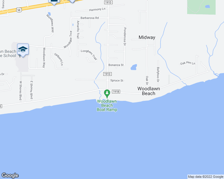 map of restaurants, bars, coffee shops, grocery stores, and more near 5296 Soundside Drive in Gulf Breeze