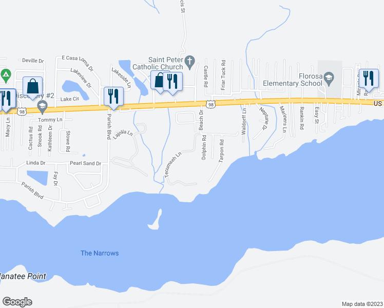 Map Of Mary Esther Florida.283 Tecumseh Lane Mary Esther Fl Walk Score