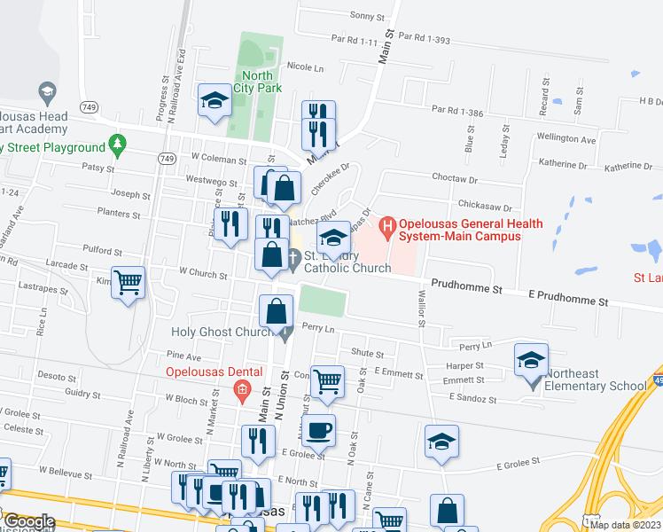 Opelousas Louisiana Map.407 East Prudhomme Lane Opelousas La Walk Score