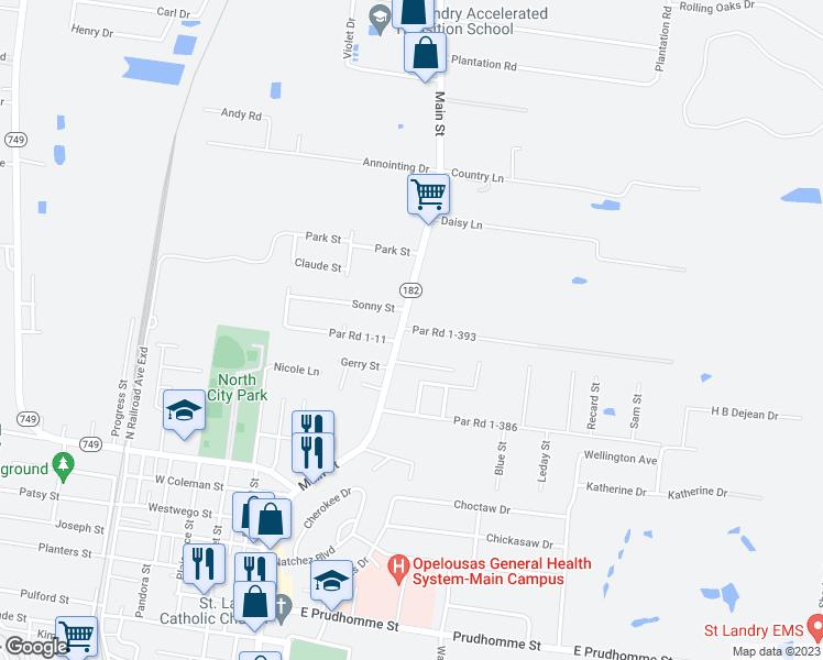 Opelousas Louisiana Map.163 Gulino Street Opelousas La Walk Score