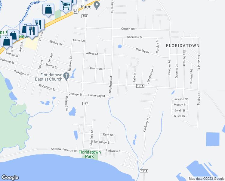 Pace Florida Map.4180 Stephens Road Pace Fl Walk Score