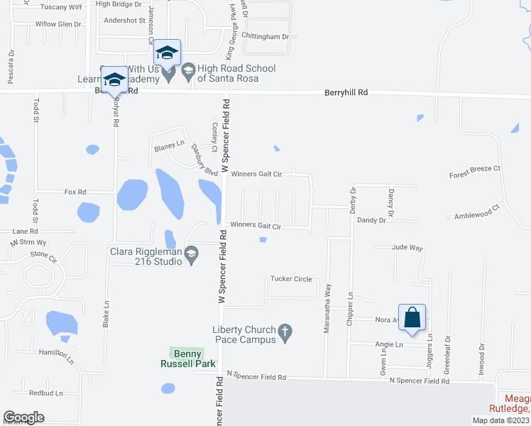 Pace Florida Map.5622 Thistledown Court Pace Fl Walk Score