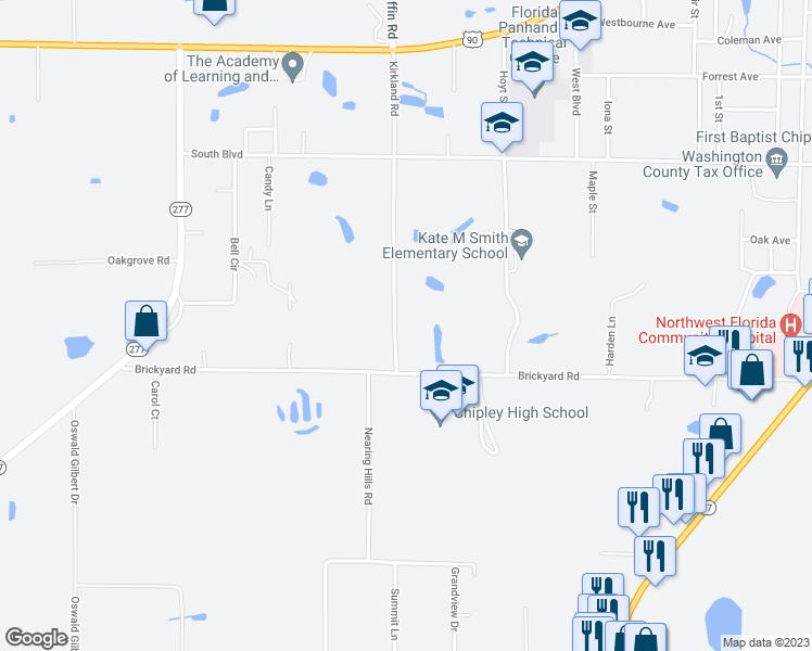 Chipley Florida Map.879 Kirkland Road Chipley Fl Walk Score