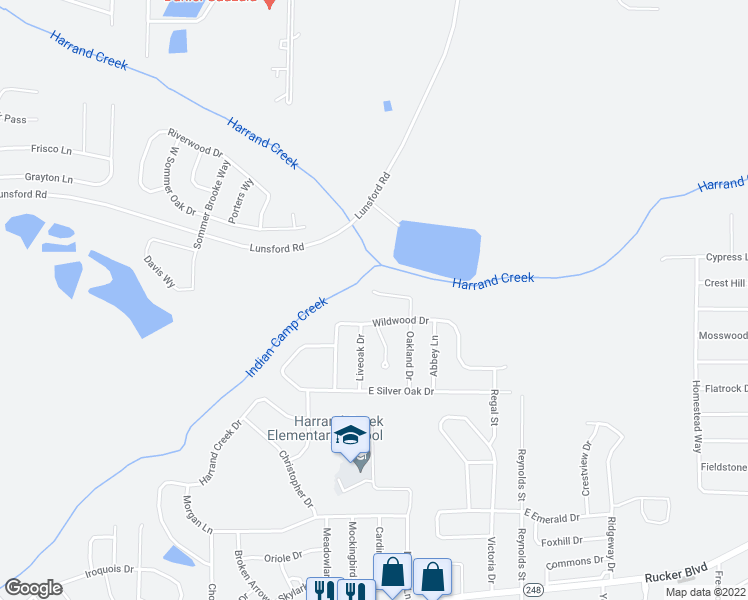 map of restaurants, bars, coffee shops, grocery stores, and more near 408 Sandy Oak Drive in Enterprise