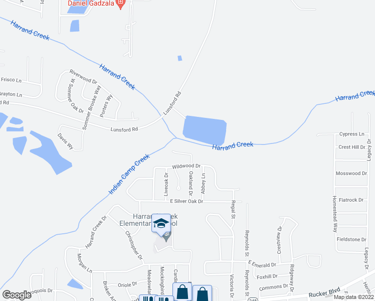map of restaurants, bars, coffee shops, grocery stores, and more near 475 Sandy Oak Drive in Enterprise