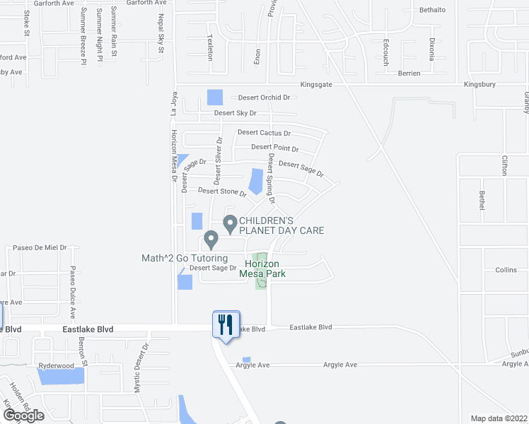map of restaurants, bars, coffee shops, grocery stores, and more near 753 Desert Ash Drive in Horizon City
