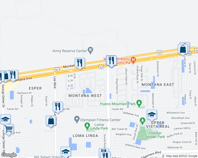 map of restaurants, bars, coffee shops, grocery stores, and more near 3727 Grand Bahamas Drive in El Paso