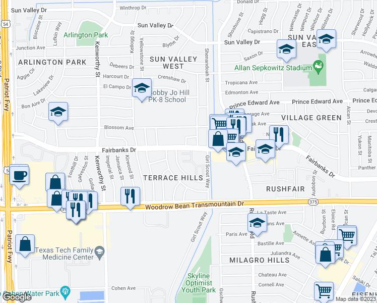 Pine Village Apartments, El Paso TX - Walk Score