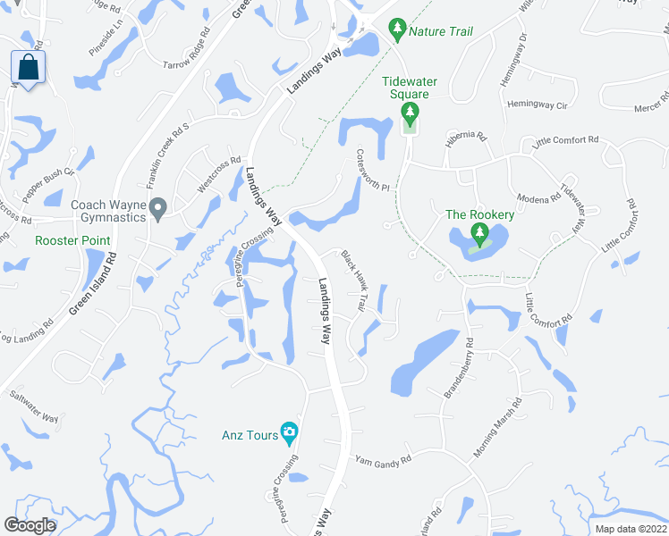 map of restaurants, bars, coffee shops, grocery stores, and more near 2 Morning Mist Lane in Savannah