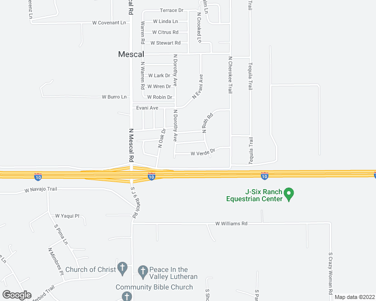map of restaurants, bars, coffee shops, grocery stores, and more near 3144 West Verde Drive in Benson