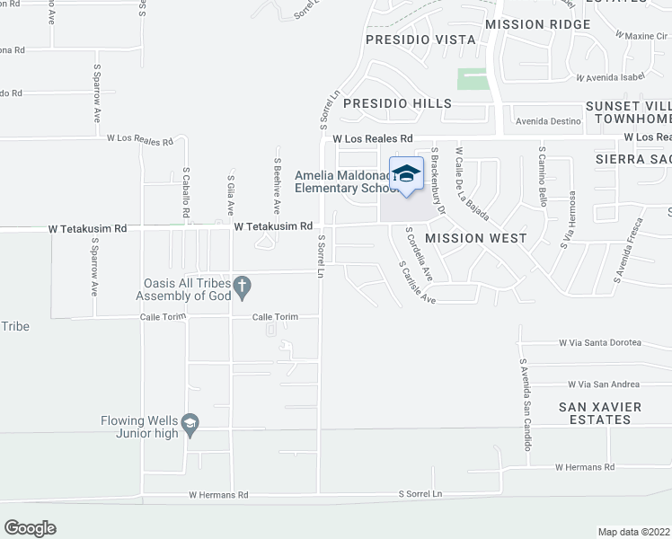 map of restaurants, bars, coffee shops, grocery stores, and more near 3765 W TYBOLT Dr in Tucson
