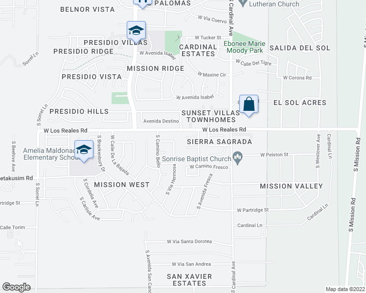 map of restaurants, bars, coffee shops, grocery stores, and more near 3098 West Placita De La Roseta in Tucson