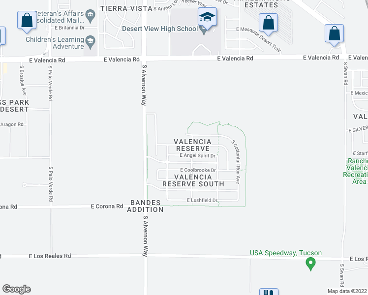 map of restaurants, bars, coffee shops, grocery stores, and more near 4046 East Agate Knoll Drive in Tucson