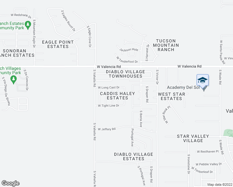 map of restaurants, bars, coffee shops, grocery stores, and more near 6678 South Stone Fly Drive in Tucson
