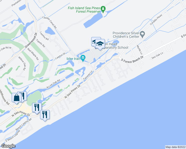 23 North Sea Pines Drive, Hilton Head Island SC - Walk Score on hilton head resort map, hilton head neighborhood map, beaufort map, st. james plantation map, channelside district map,