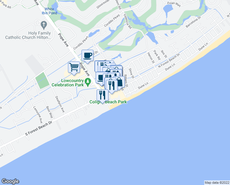 Map Of Restaurants Bars Coffee S Grocery Ore Near 4