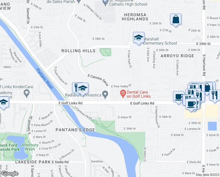 8824 East Pine Valley Drive, Tucson AZ - Walk Score