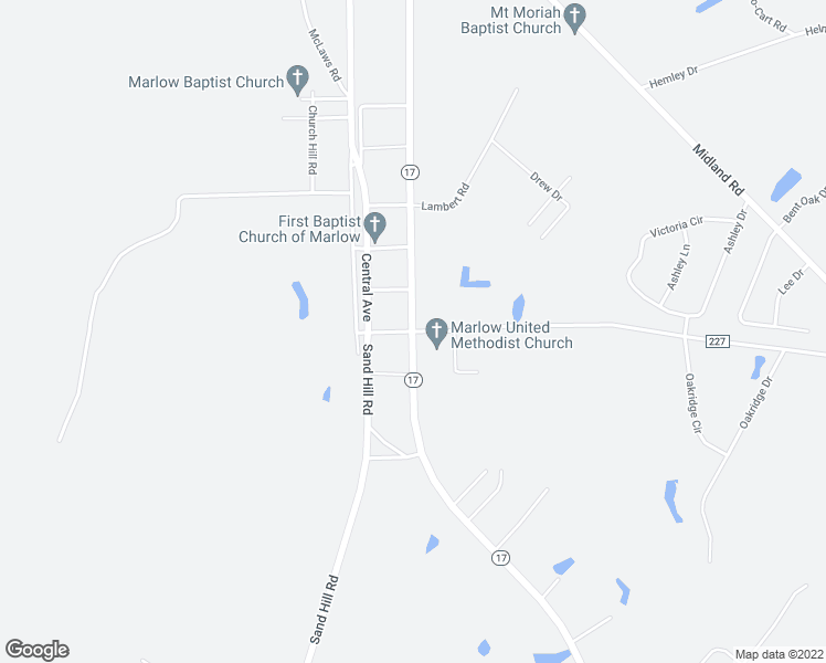 map of restaurants, bars, coffee shops, grocery stores, and more near 2273 Georgia 17 in Guyton
