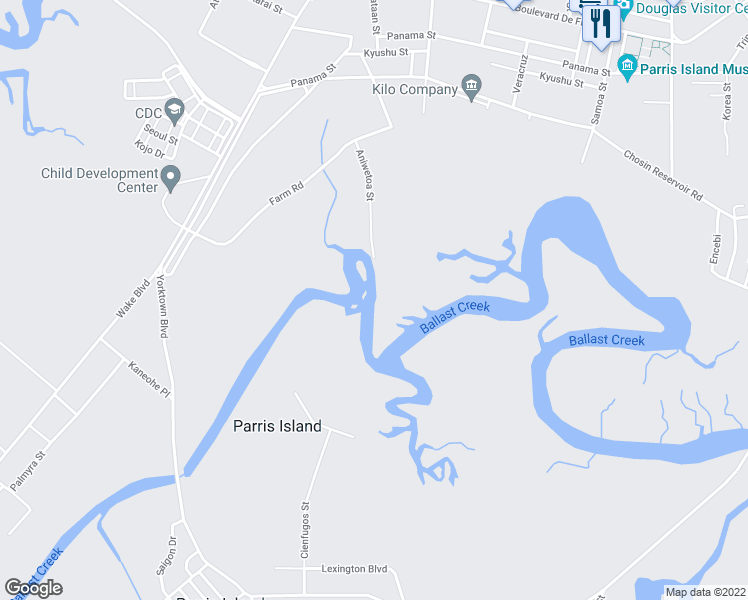 map of restaurants, bars, coffee shops, grocery stores, and more near in Beaufort