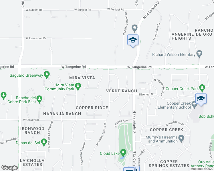 map of restaurants, bars, coffee shops, grocery stores, and more near 11855 North Sage Brook Road in Oro Valley