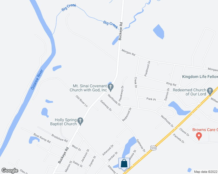 map of restaurants, bars, coffee shops, grocery stores, and more near 903 Buckeye Road in East Dublin