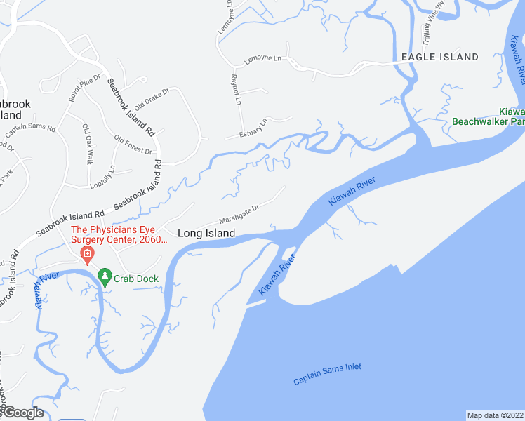 map of restaurants, bars, coffee shops, grocery stores, and more near 3087 Marshgate Drive in Johns Island