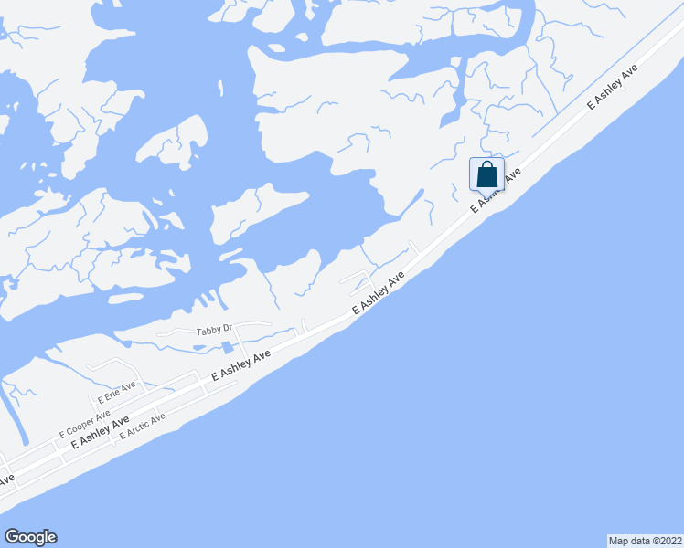 map of restaurants, bars, coffee shops, grocery stores, and more near 1508 Forrest Avenue in Folly Beach