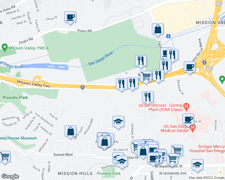 Fashion Valley San Diego Map.1361 Hotel Circle South San Diego Ca Walk Score