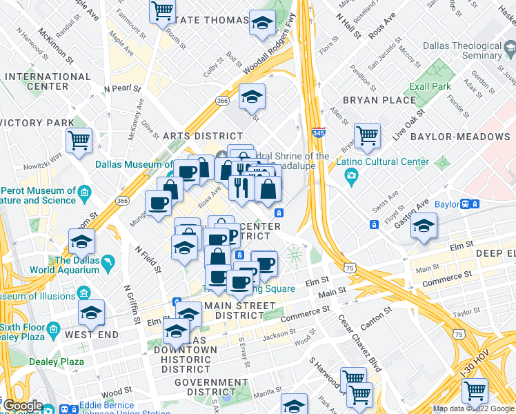 Map Of Restaurants Bars Coffee Shops Grocery Stores And More Near 650