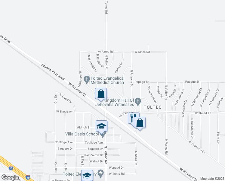 Map Of Eloy Arizona.3965 West Shira Street Eloy Az Walk Score