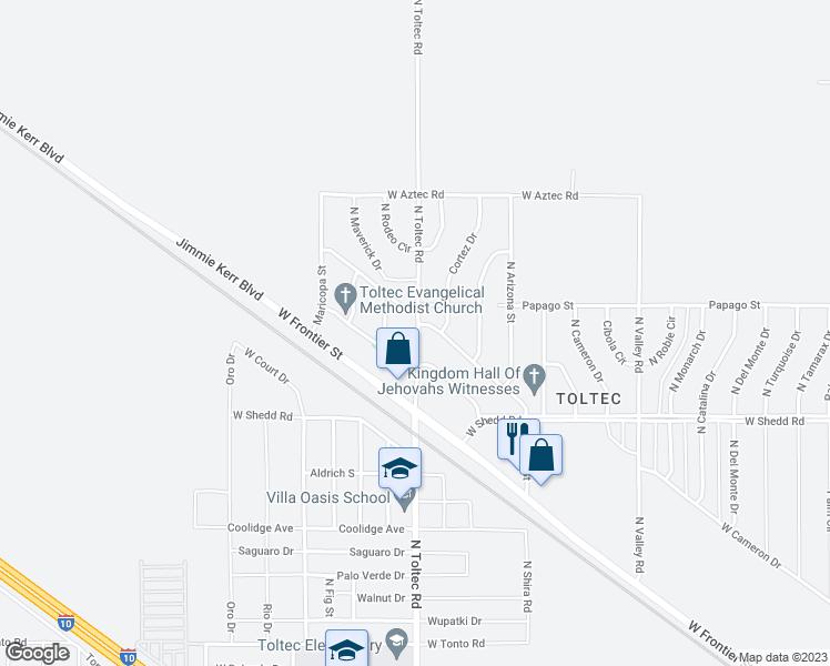 Map Of Eloy Arizona.4130 North Toltec Road Eloy Az Walk Score