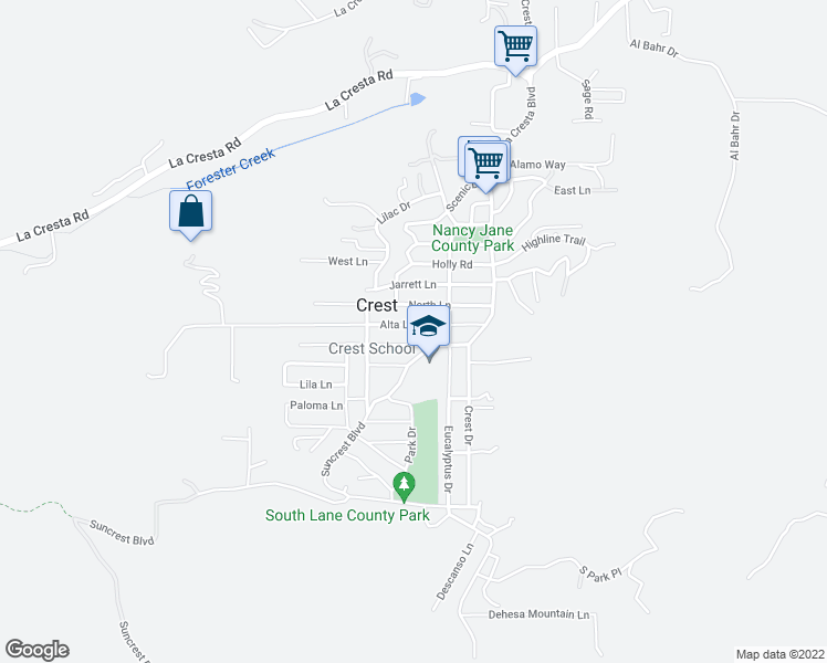 map of restaurants, bars, coffee shops, grocery stores, and more near 228 Alta Ln in El Cajon