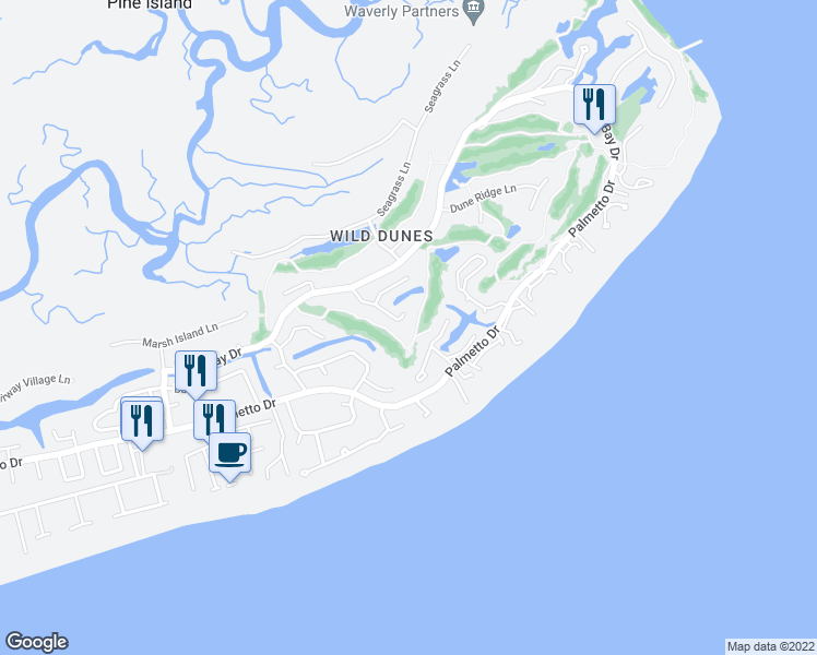 map of restaurants, bars, coffee shops, grocery stores, and more near 12 Hidden Green Ln in Isle of Palms