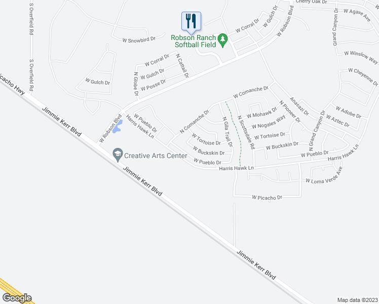 Map Of Eloy Arizona.5228 West Pueblo Drive Eloy Az Walk Score