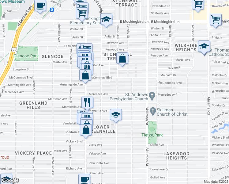 5843 mercedes avenue dallas tx walk score for Apartments near mercedes benz stadium