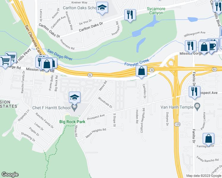 8546 Graham Terrace, Santee CA - Walk Score