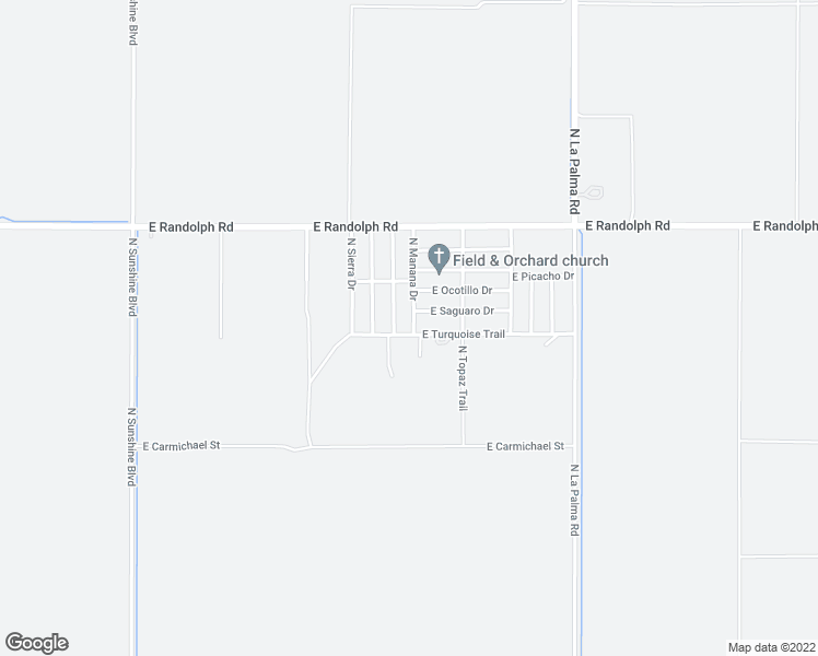 map of restaurants, bars, coffee shops, grocery stores, and more near 4426 North Manana Drive in Casa Grande