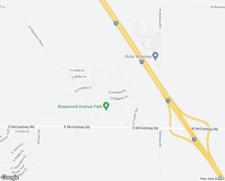 map of restaurants, bars, coffee shops, grocery stores, and more near 1740 East Fontana Drive in Casa Grande