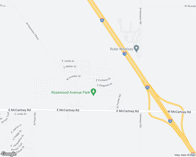map of restaurants, bars, coffee shops, grocery stores, and more near 1736 East Fontana Drive in Casa Grande