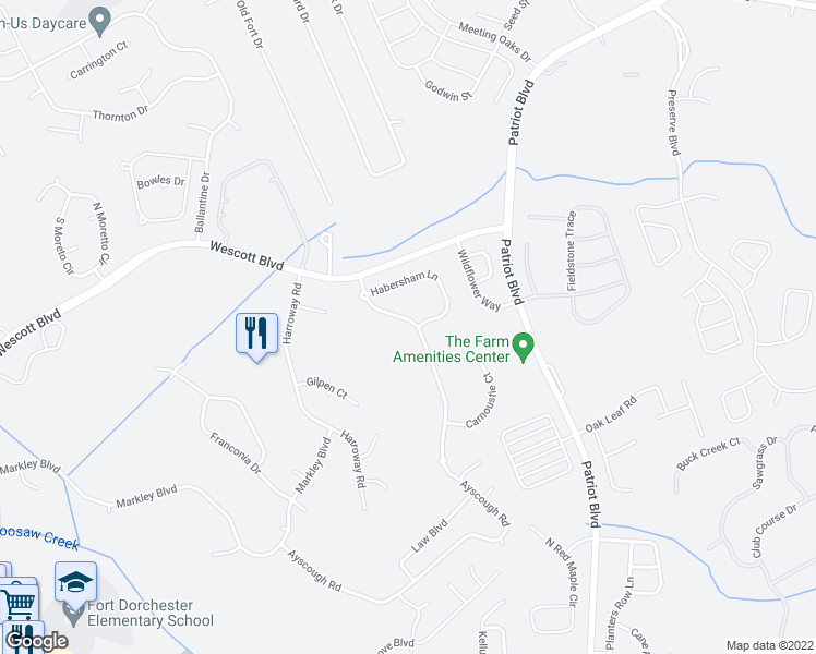 map of restaurants, bars, coffee shops, grocery stores, and more near 9242 Ayscough Road in Summerville