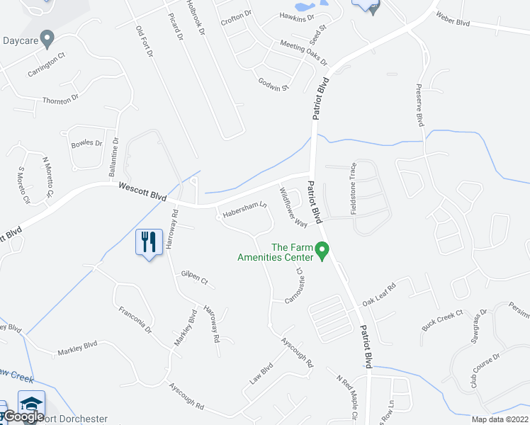 map of restaurants, bars, coffee shops, grocery stores, and more near 4846 Habersham Lane in Summerville