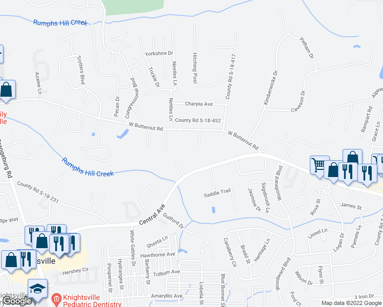map of restaurants, bars, coffee shops, grocery stores, and more near 108 Clear Field Court in Summerville
