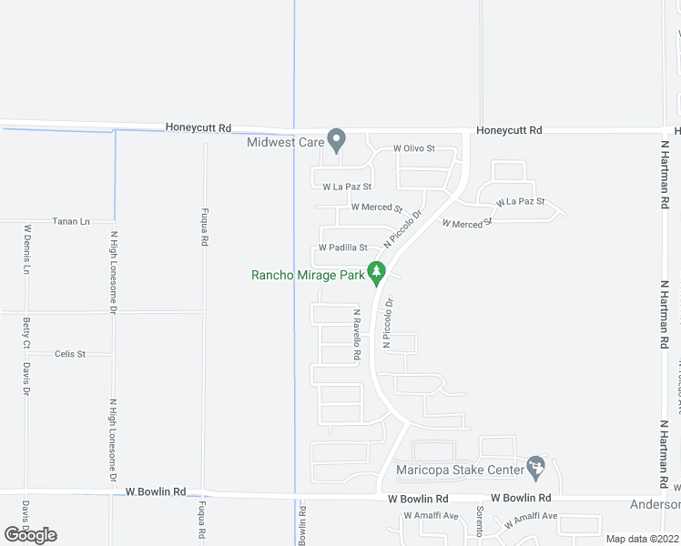 map of restaurants, bars, coffee shops, grocery stores, and more near 38137 West Nina Street in Maricopa