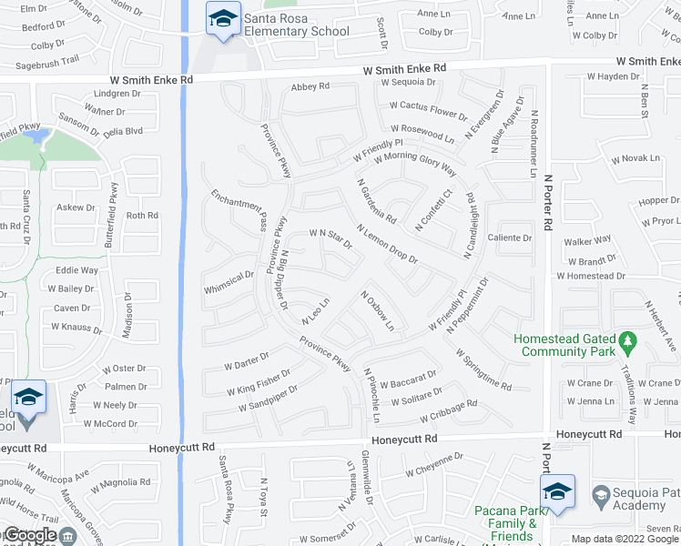 map of restaurants, bars, coffee shops, grocery stores, and more near 42416 West Heavenly Place in Maricopa
