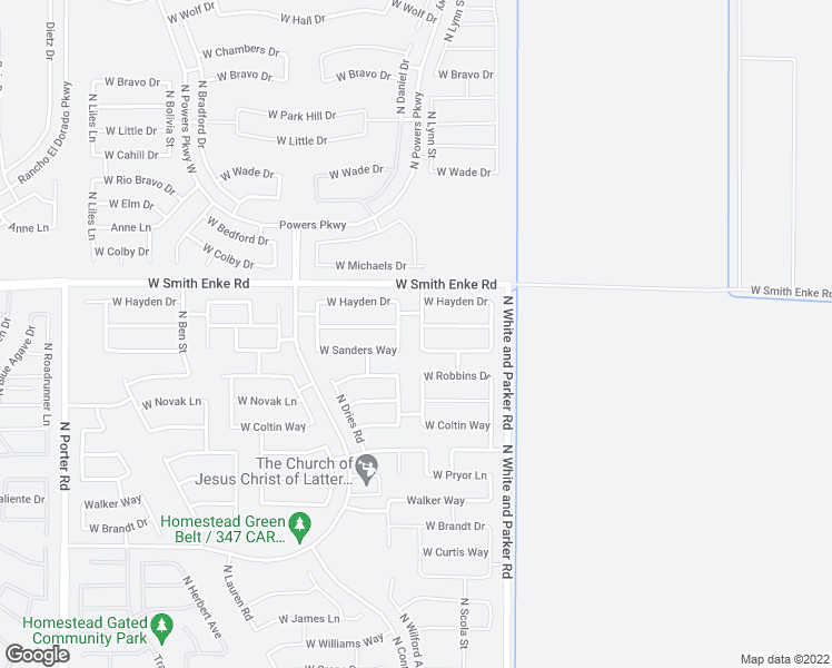 map of restaurants, bars, coffee shops, grocery stores, and more near 21080 North Wilford Avenue in Maricopa
