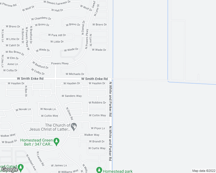 map of restaurants, bars, coffee shops, grocery stores, and more near 21161 North Grantham Road in Maricopa