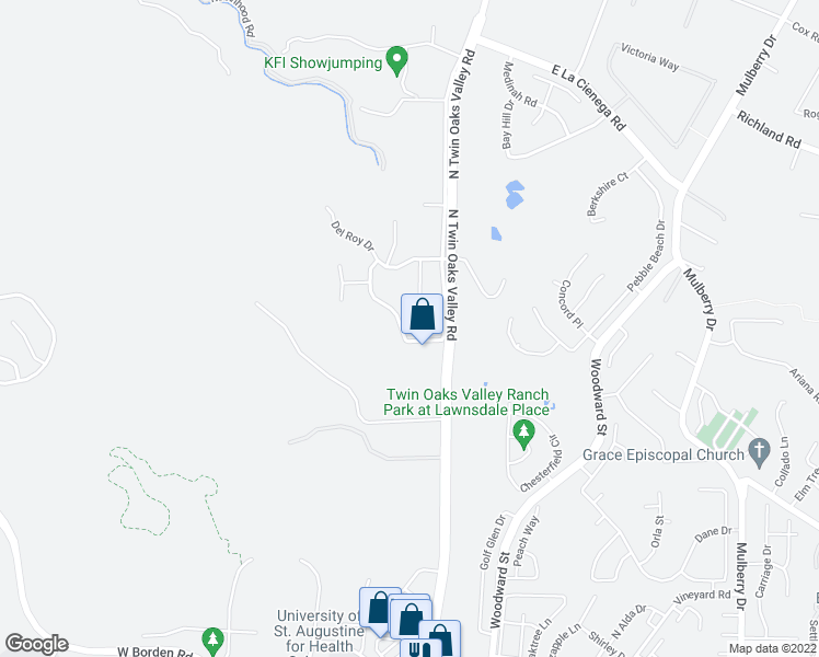map of restaurants, bars, coffee shops, grocery stores, and more near 1321 Deer Brook Drive in San Marcos